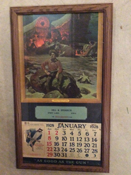 Actual Winchester Store Calendar from Hill & Sperbeck